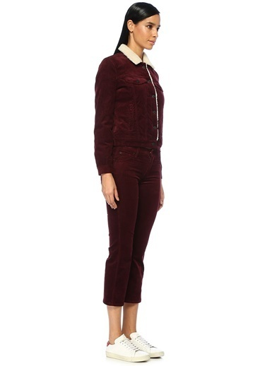 7 For All Mankind Pantolon Bordo